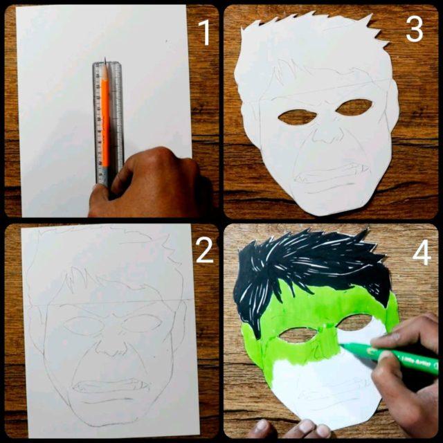 Создание маски халка