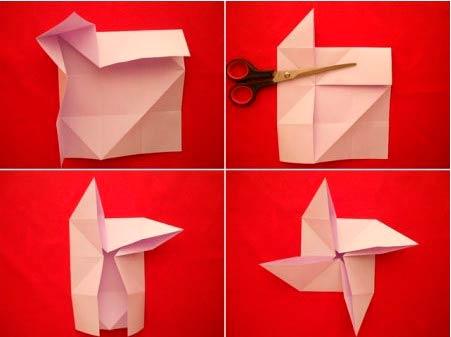 Сборка пушки оригами