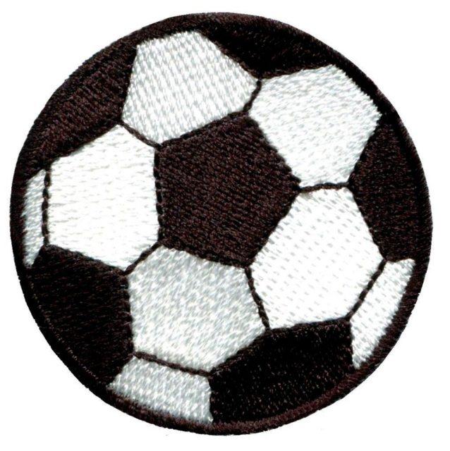 Аппликация футбольный мячик