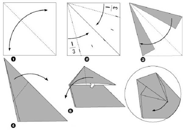 Оригами бегемот, схема