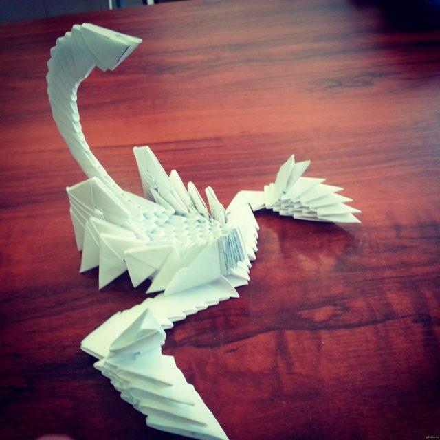 Скорпион в технике модульного оригами