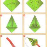 Создание воздушного змея оригами, схема