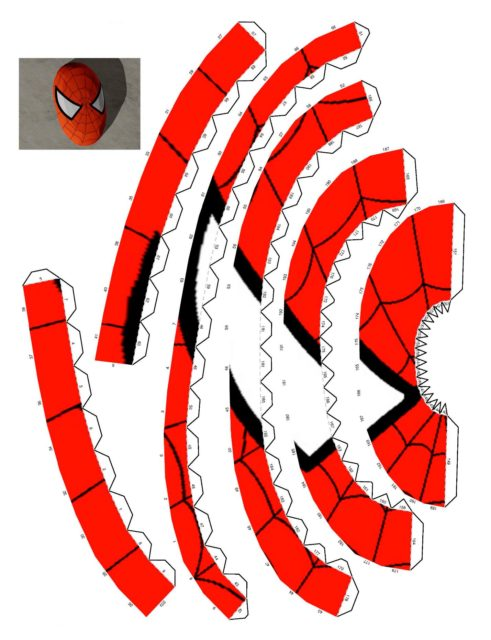 Развертка маски человека паука