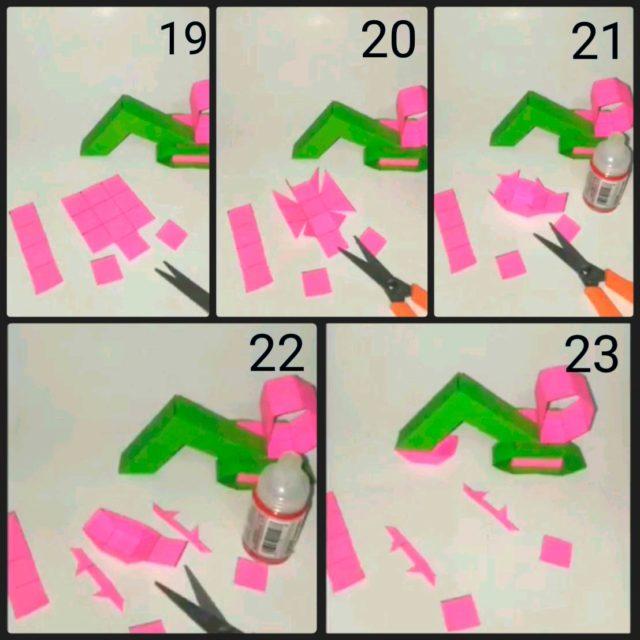 Сборка экскаватора оригами, схема