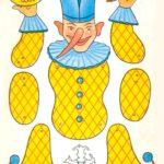 Шаблон клоуна дергунчика для вырезания