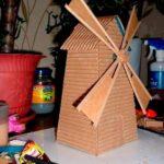 Изготовление мельницы из картона
