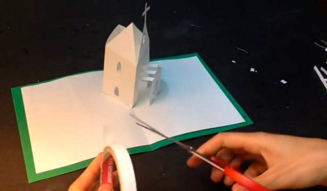 Поделка церкви киригами