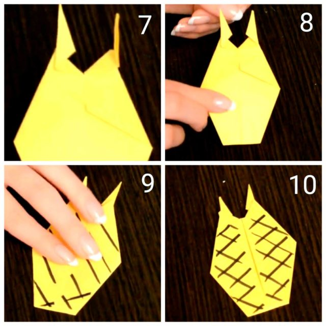 Схема, оригами ананас