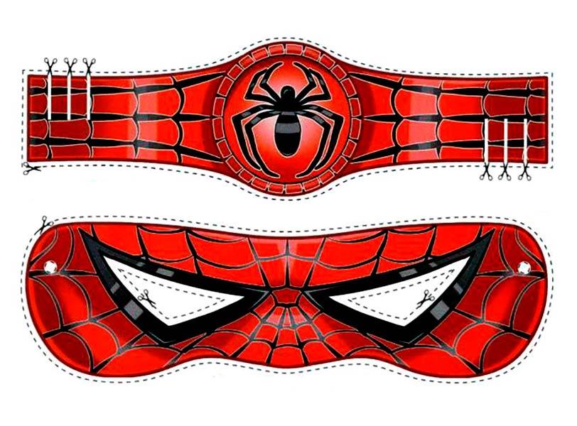 Как сделать маску человека паука из бумаги и картона ...