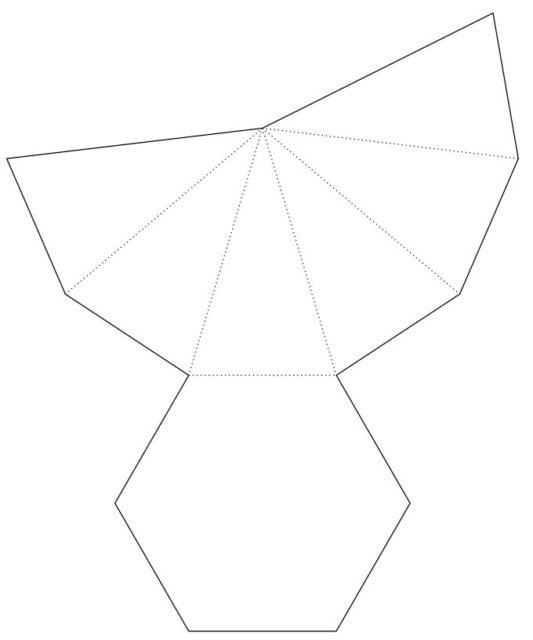 Схема пятиугольной пирамиды