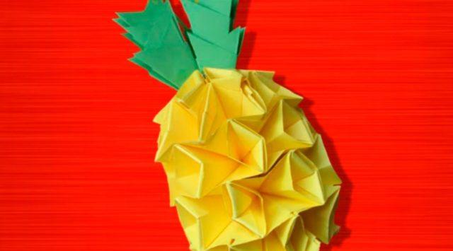 Ананас из модулей оригами
