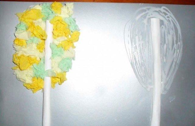 Создание бумажной березки