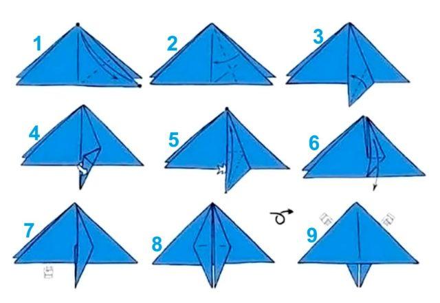 Схема ракеты в технике оригами