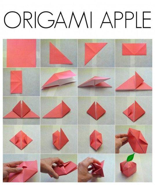 Схема яблока оригами