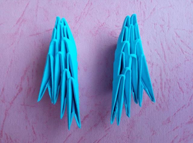 Дельфин в технике модульного оригами