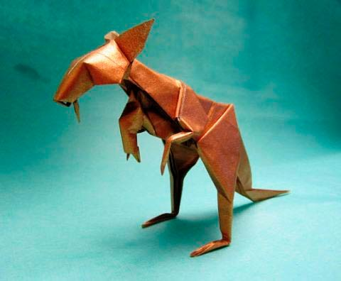 Бумажный кенгуру