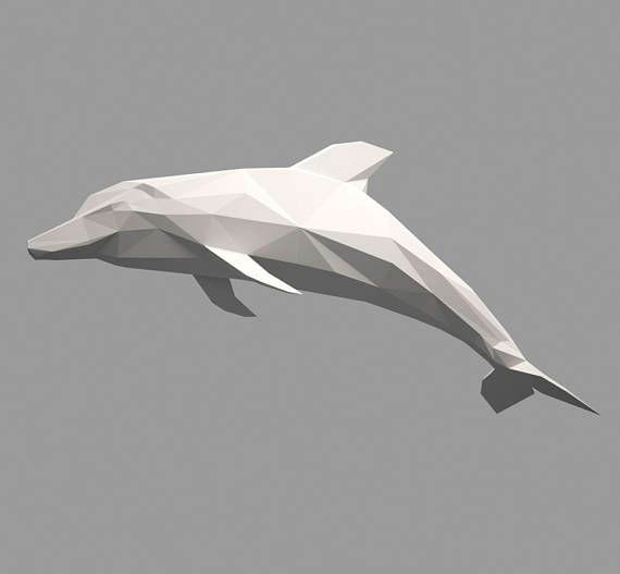 Паперкрафт дельфин