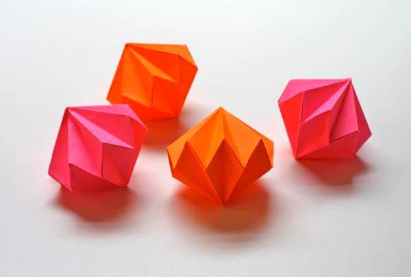 Алмазы из бумаги, объемные