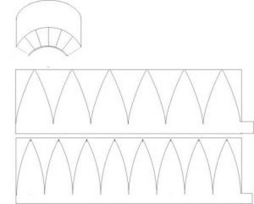 Схема кепки из картона