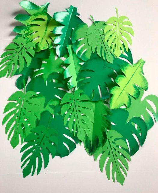 Листья пальмы из бумаги