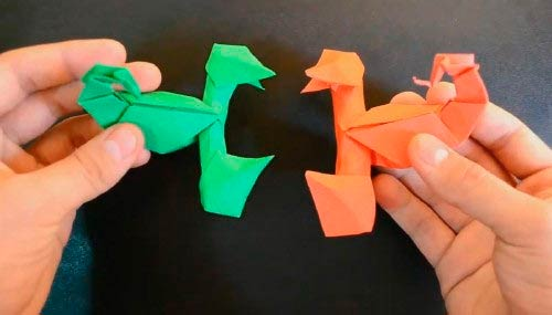 Оригами-скорпионы