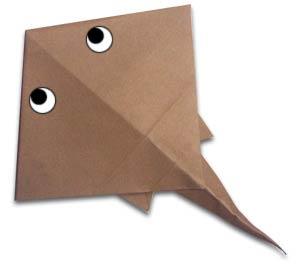 морской скат оригами