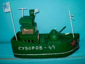 Макет военного корабля