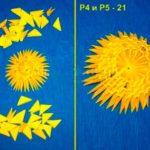 Колобок в технике модульного оригами