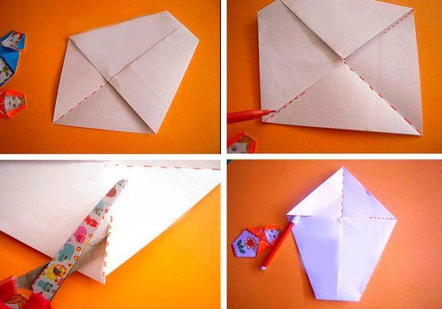 Сборка матрешки оригами