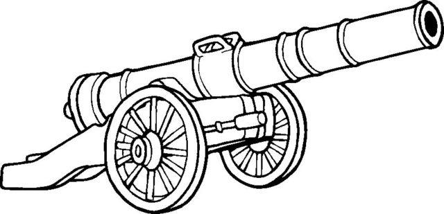 Шаблон пушки на колесах