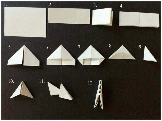 Складывание модуля оригами