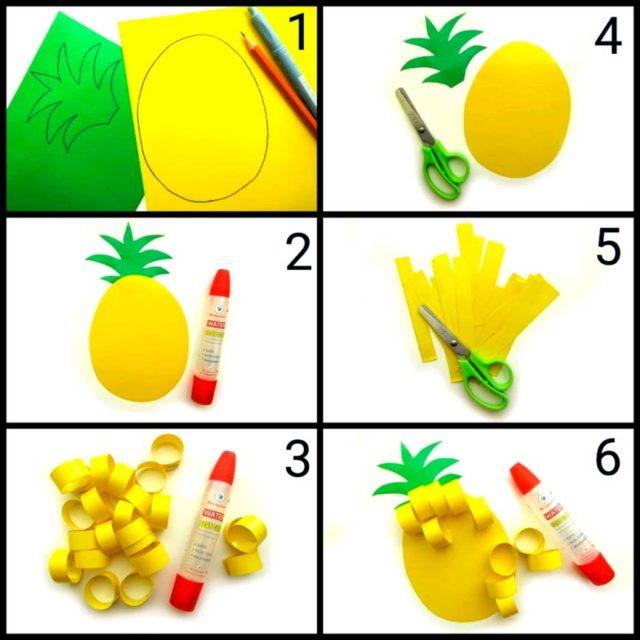 Создание аппликации ананаса