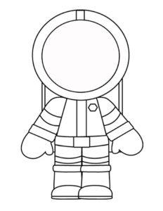 Шаблон космонавта