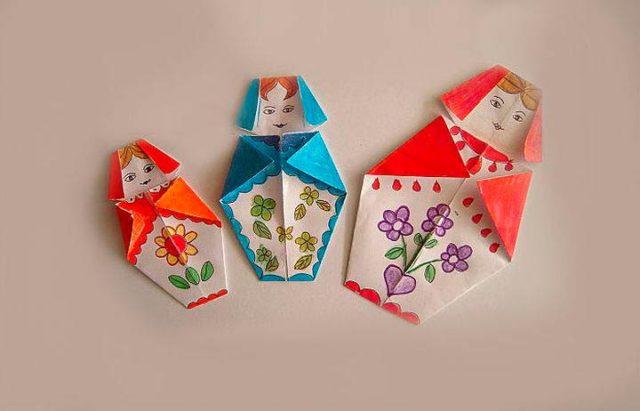 Матрешки оригами