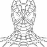 Шаблон маски человека паука