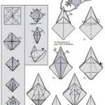 Жук голиаф оригами, схема