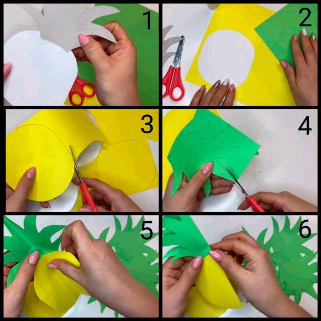 Объемная аппликация оригами