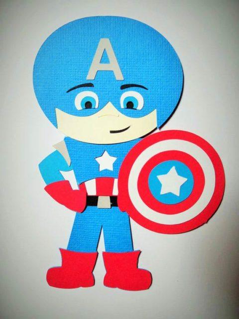 Бумажный капитан америка