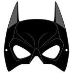 Шаблон маски бетмэна, трафарет
