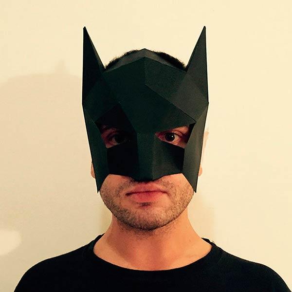 Маска бэтмена паперкрафт