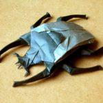 Жук голиаф оригами