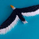 Орел из бумаги, модульное оригами