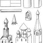 Шаблон церкви для вырезания
