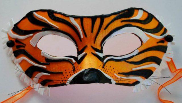 Маска тигра на голову