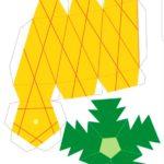 Шаблон ананаса