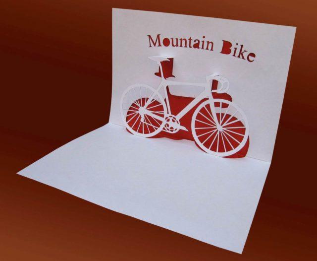 Велосипед киригами