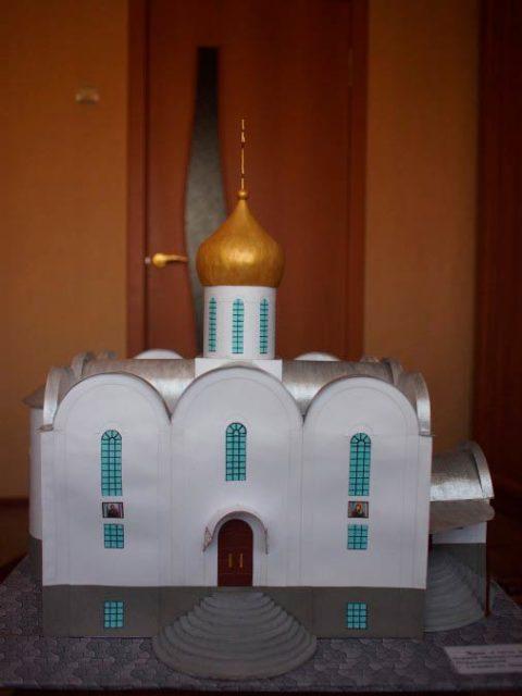 Поделка церковь с куполом
