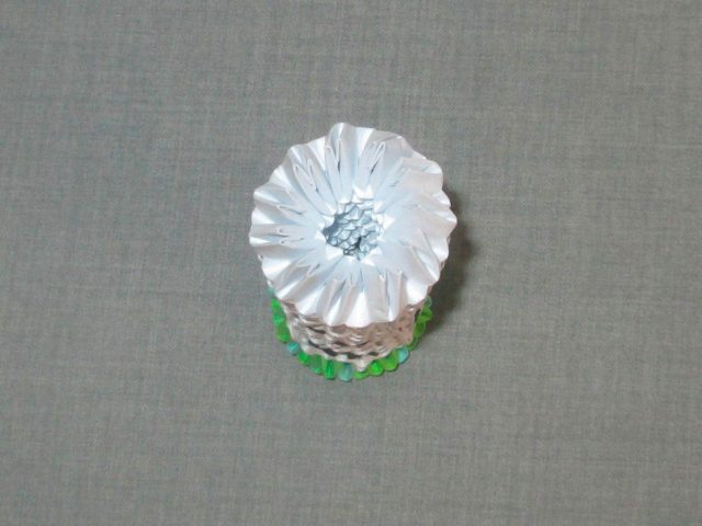 Березка в технике модульного оригами