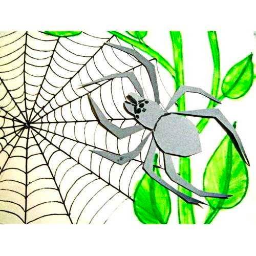 Создание аппликации паука