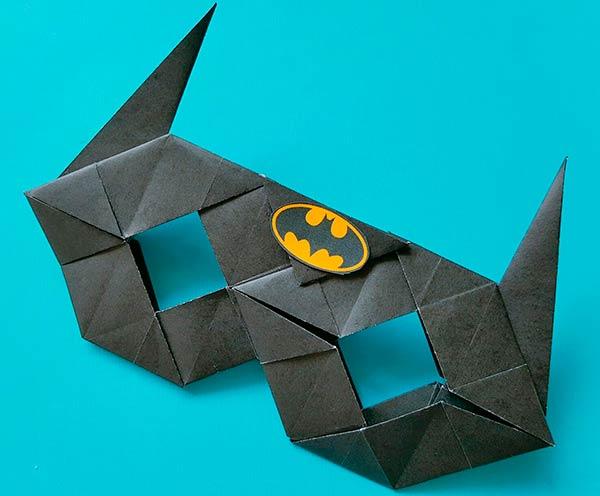Маска бэтмэна оригами